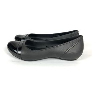 Crocs Shoes Slip On Flats Size 11 Black Comfort